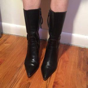 Vintage Coach Kitten Heel Boots 6.5 Narrow